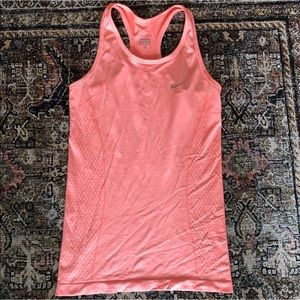 Nike dri-fit Racerback Running Top, Peach Color